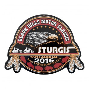 2016 Official Sturgis 76th Motorcycle Rally Black Hills Motor Classic Metal Sign