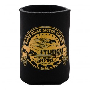 2016 Sturgis 76th Motorcycle Rally Black Foam Traditional Can Koozie