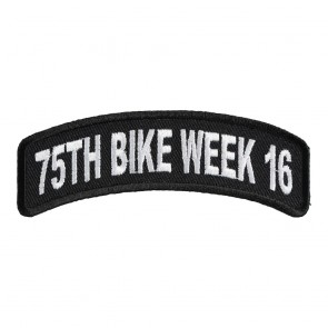 2016 Daytona 75th Bike Week White Rocker Event Patch