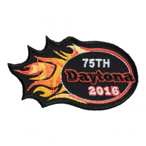 2016 Daytona 75th Bike Week Orange Flames Event Patch