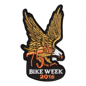2017 Daytona Bike Week 76th Brown & Orange Eagle Event Patch