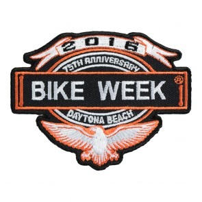 2016 Daytona Bike Week 75th Anniversary Eagle & Banner Event Patch