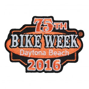 2016 Daytona Beach 75th Bike Week Orange & Black Event Patch