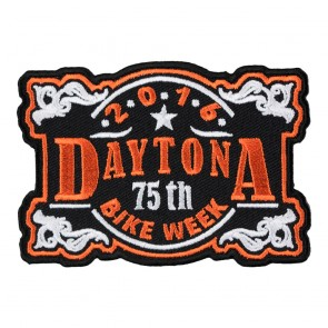 2016 Daytona 75th Bike Week Vintage Plaque Event Patch