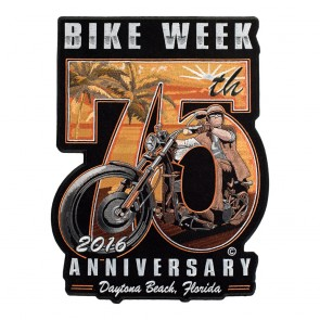 2016 Daytona Bike Week Embroidered 75th Anniversary Sunset Rider Event Patch