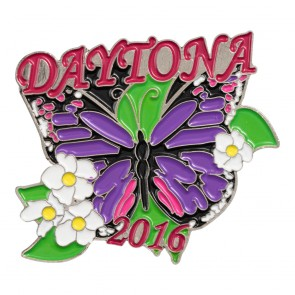 2016 Daytona Bike Week Purple Butterfly Flowered Event Pin
