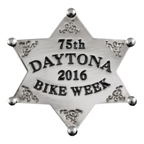 2016 Daytona Bike Week 75th Western Sheriff Star Silver Event Pin