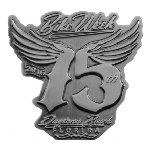 75th Anniversary Daytona Bike Week Metallic Winged 75 Event Pin
