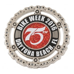 75th Daytona Beach 2016 Bike Week Motorcycle Chain Event Pin