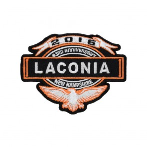 Embroidered 2016 Laconia Eagle & Banner Event Patch