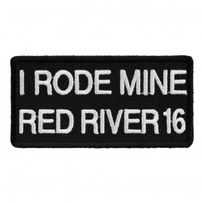 2016 Red River I Rode Mine White 34th Anniversary Event Patch