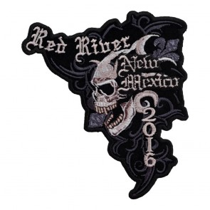 Embroidered 2016 Red River Marble Skull Event Patch