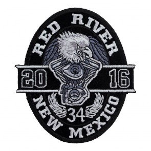 Sew On 2016 Red River Black Oval Eagle Event Patch
