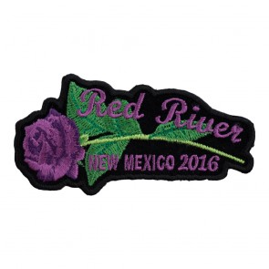 Sew On 2016 Red River Purple Rose & Stem Event Patch