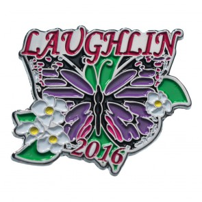 34th Annual 2016 Laughlin River Run Butterfly & Flowers Event Pin