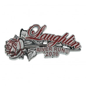34th Annual 2016 Laughlin River Run Red Rose & Stem Event Pin