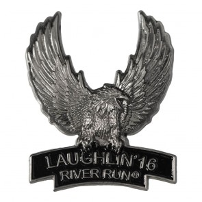2016 Laughlin River Run Silver Upwing Eagle 34th Anniversary Pin
