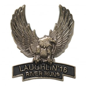 34th Annual 2016 Laughlin River Run Gold Upwing Eagle Event Pin