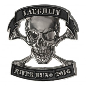 34th Annual 2016 Laughlin River Run Skull & Crossbones Event Pin