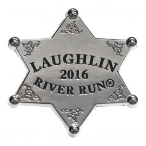 34th Annual2016 Laughlin River Run Silver Sheriff Star Event Pin