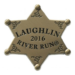 34th Annual 2016 Laughlin River Run Gold Sheriff Star Event Pin