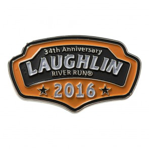 34th Annual 2016 Laughlin River Run Orange Plaque Event Pin