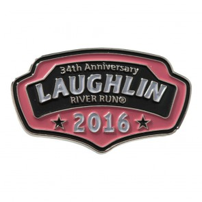 34th Annual 2016 Laughlin River Run Pink Plaque Event Pin