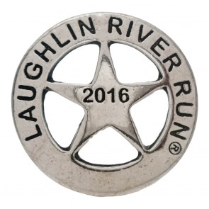 2016 Laughlin River Run Sherif Badge Silver Event Pin