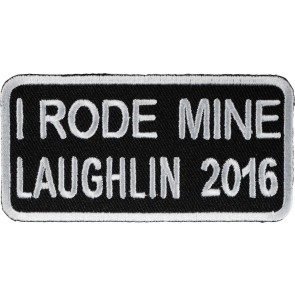 34th Annual 2016 Laughlin I Rode Mine White Event Patch