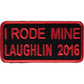 2016 Laughlin River Run I Rode Mine Red Sew On & Iron On Event Patch