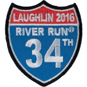 Embroidered  2016 Laughlin River Run Road Sign Event Patch