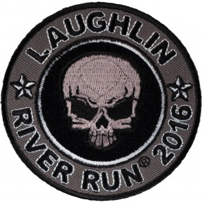 2016 Laughlin River Run Grey Skull Round 34th Annual Event Patch