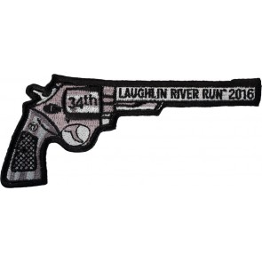 34th Anniversary Laughlin River Run Right Revolver Hand Gun Event Patch