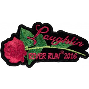 Embroidered 2016 Laughlin River Run Pink Rose & Stem Event Patch
