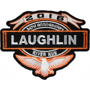 Orange and Black 2016 Laughlin River Run Eagle & Banner Event Patch