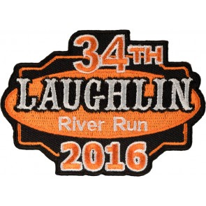 34th Anniversary 2016 Laughlin River Run Orange & Black Event Patch