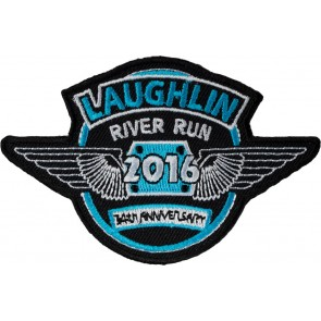 2016 Embroidered Laughlin River Run Blue & White Wings Event Patch