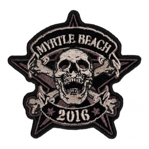Iron On 2016 Myrtle Beach Star Skull & Crossbones Event Patch