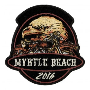 Embroidered 2016 Myrtle Beach Golden Eagle Motorcycle Event Patch