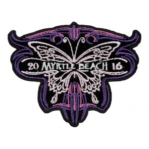 Myrtle Beach Pink Purple Tribal Butterfly 2016 Annual Event Patch