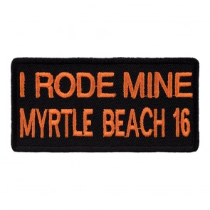 2016 Myrtle Beach I Rode Mine Orange Iron On Event Patch