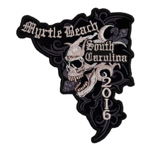 2016 Myrtle Beach Marble Skull Iron On Event Patch