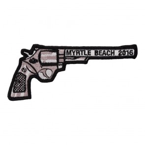 Traditional 2016 Myrtle Beach Right Revolver Hand Gun Event Patch