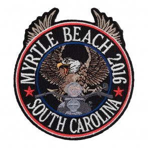 Sew On & Iron On 2016 Myrtle Beach Riding Eagle Patriotic Event Patch