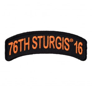 Orange Rocker 76th Annual Sturgis 2016 Event Patch