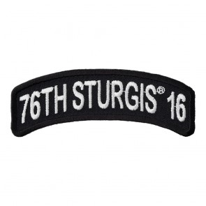 2016 Sturgis 76th Annual Motorcycle Rally White Rocker Event Patch