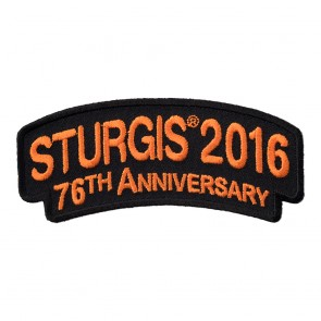 2016 Sturgis 76th Anniversary Orange Rocker Patch
