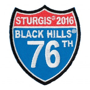 2016 Sturgis 76th Anniversary Black Hills Rally Road Sign Event Patch