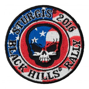 2016 Sturgis Black Hills Rally American Flag Skull 76th Annual Event Patch