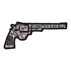 2016 Sturgis 76th Annual Black Hills Rally Revolver Gun Event Patch